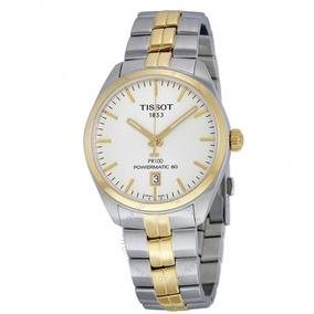 81a13d214e7 Relógio Tissot Powermatic 80 Pr 100 Ouro aço Automático. R  4.499. 12x R   374 sem juros