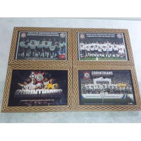 4 Quadros 20x30 Cm - Corinthians Campeão - 95/02/12/17