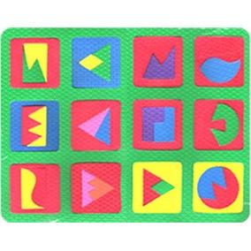 Quebra Cabeça Geométrico Com 1 Placa Eva Escolar Educativo