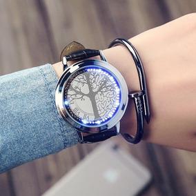 Reloj Led Touch Arbol Vida Creativo Hombre Mujer Minimalista