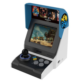 Video Game Neogeo Mini + Controle Arcade Snk 40th /40 Jogos