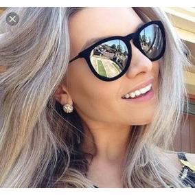 Óculos Prata Espelhado De Sol Feminino Promoção Barato 2018