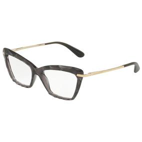 07afc8a67eb51 Armação Óculos Feminino Gatinho Dg5025 Diamante Preto