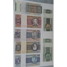 Lote De 7 Cédulas De 1,5,10,50,100 E 500 Cruzeiros Soberba/f