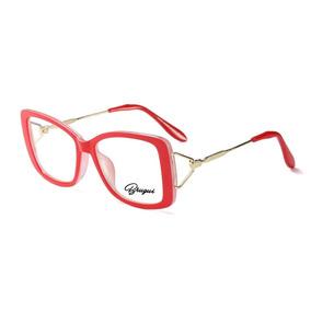 Oculos De Grau Feminino Quadrado Preto - Óculos Vermelho no Mercado ... 877d01e77c