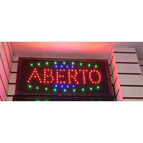 Placa Painel De Led Letreiro Luminoso Aberto 220v