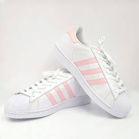 aa8390cf1 Tênis adidas Superstars Feminino Rosa Claro + Frete Grátis!