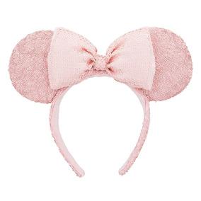 Disney Parks Diadema Minnie Mouse Lentejuela Pink 2018