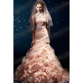 Vestido De Noiva Seda Bordado Sereia