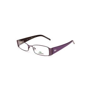 660c9731b0353 Óculos De Grau Feminino Lacoste Metal Roxo - Cor Roxo