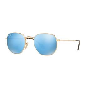 Rayban Hexagonal Azul Espelhado - Óculos no Mercado Livre Brasil 7afd48efe5