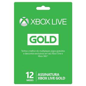 Cartão Xbox Live Gold Assinatura 12 Meses Codigo 25 Digitos