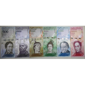 Kit Cédulas Venezuelanas Fe De 500, 1k, 2k, 5k, 10k E 20k
