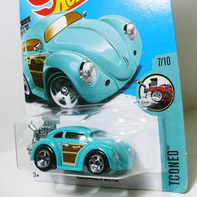 Hot Wheels Volkswagen Beetle - Vw Fusca - Tooned Hw Wood