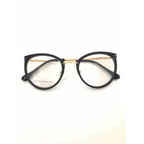 Armação Óculos P/grau Femenino Retro Metal Chic Novinho Cor