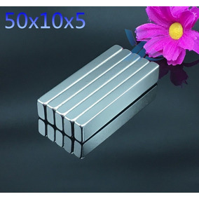 Ideal Para Projeto Super Ima De Neodimio 50x10x5 Mm / N50