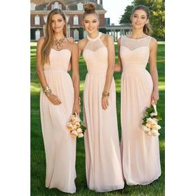 Vestidos de damas de honor largos para gorditas