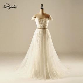 Vestido De Noiva 25748 Luxo Elegante Tulle Setin Princesa