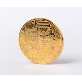 Bitcoin Btc Moneda Fisica Conmemorativa 1 Oz Dorada