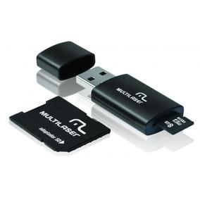 Multilaser Pen Drive 3 Em 1 Usb Microsd Card C/ Adaptador Sd