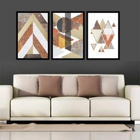 cad203375 Quadros Abstratos Compose Triplo - Quadros Decorativos no Mercado ...