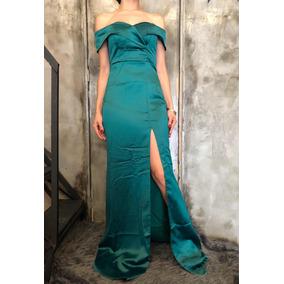 Vestidos de noche color verde esmeralda