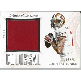 Colin Kaepernick 2015 National Treasures 49ers Jersey  25 135ad722ffbf1
