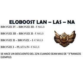 Elo Boost, League Of Legends Lan - Las - Na Bronze