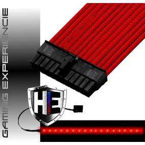 Cabo Extensor Gamer Sleeve 24 Pinos Fonte Atx Case Mod Top