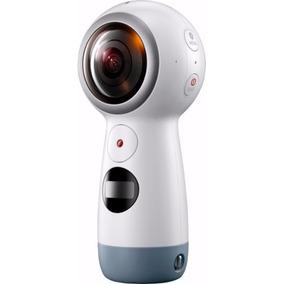 Samsung - Gear 360 Real 360 Degree 4k Vr Camera 2017