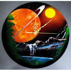 Relojes De Vinil Artesanales De Aerosolgrafia