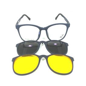 bfefac72b12ef Armação Azul Clip On - Óculos Azul no Mercado Livre Brasil