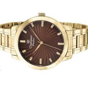 b3d014855cc Relogio Feminino Dourado Champion Social Cn 289914 - Relógios De ...