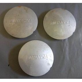 3 Calota Miolo Centro Tampa Roda Monza Sle 1982 -1990 Prata