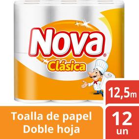 Toalla Nova Clasica Doble Hoja 12und 12,5cm