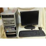 Pc Escritorio Gateway Pentium D 2.8ghz 250gb 2 Ram, Monitor