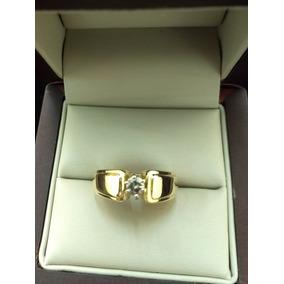 Anillo De Oro Amarillo 14k Solitario Con Diamante Natural