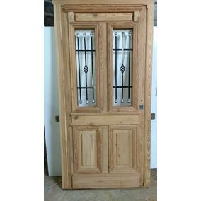 Puerta entrada madera aberturas puertas exteriores for Puertas en madera entrada principal