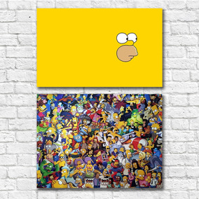 Kit 05 Pôsteres A3 - Simpsons - Frete Grátis (ler Anúncio)