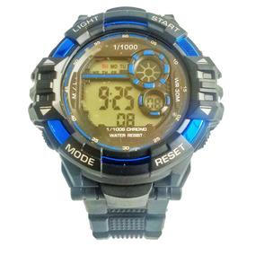 Relógio Digital G Shock Masculino Preto E Azul Barato