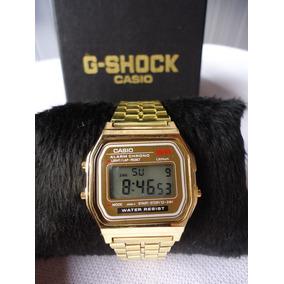 7a8c2a0beba Relógio Casio Camuflado Retro Unissex Classico Dourado Prata ...