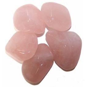Amuletos De Cristal - Pedras Roladas - Quartzo Rosa Unidade