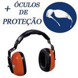Abafador Ruido 21db Concha Sepang2 + Óculos De Proteção f16e740928