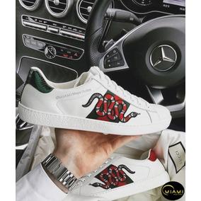 Tenis Gucci Ace Snake - Tênis para Masculino Branco no Mercado Livre ... d35be2aa752