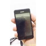 Celular Sony Modelo D2004 Usado, Color Negro Con Camara En $