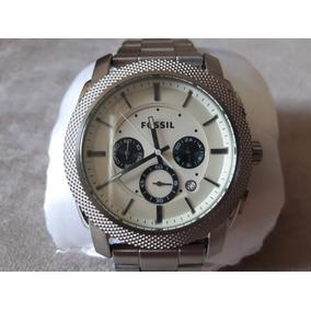 Relógio Original Fossil Prateado Em Aço Inoxidável