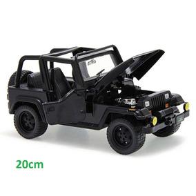 Miniatura Jeep Wrangler 1992 Jada Toys 1:24 Preto + Nota