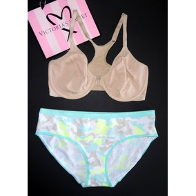 Victorias Secret Conjunto Basico Algodón Bra 34d G Lencería