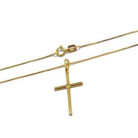 Pingente Cruz Crucifixo Ouro 18k 750 Feminino Masculino - Colar no ... 3ebc00cb75