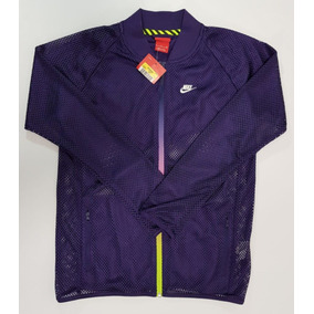 Sudadera Nike T/f Mesh Bomber Jacket Purple. Talla S